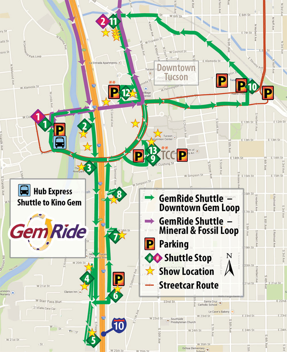 Gem Ride Shuttle Map